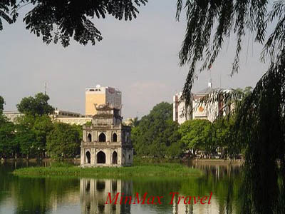 Restored Sword Lake in Hanoi