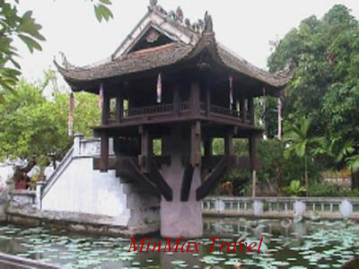 One pillar pagoda in Hanoi