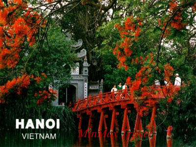 The Huc Brigde in Ha Noi