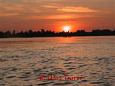 Sunset over Mekong River