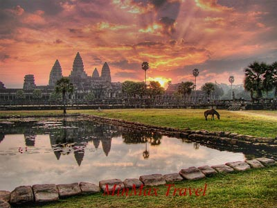 Sunset over Angkor