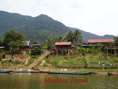 Nice Village along Nam Ou River