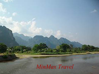 Nam Song River in Vang Vieng